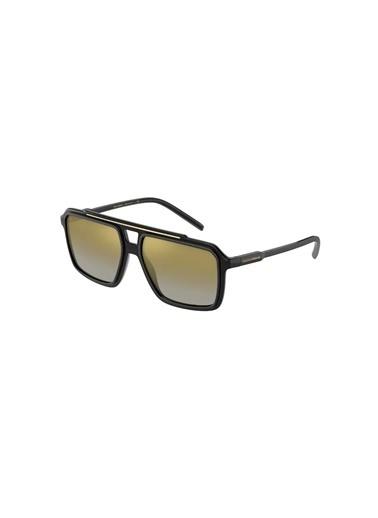 Dolce&Gabbana Dolce & Gabbana 0Dg6147 501/6E 57 Ekartman Erkek Güneş Gözlüğü Siyah
